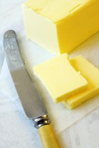 stick of butter with knife
