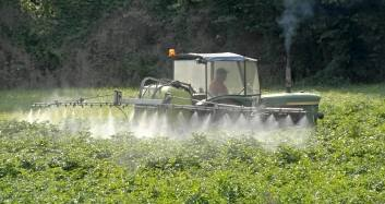 dangerous pesticides being sprayed in a field