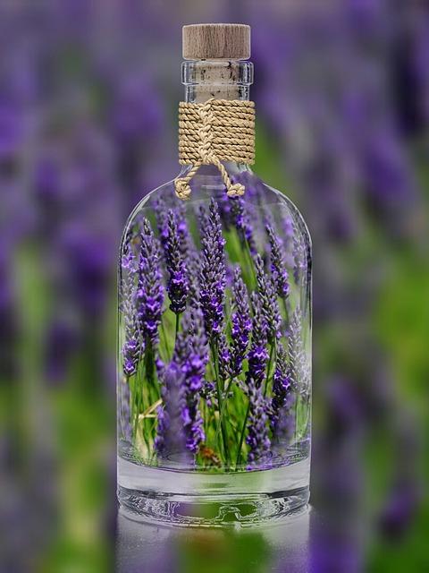 lavender essential oil bottle