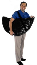 man carrying a folding rebounder