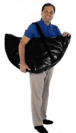 man carrying a folding rebounder