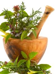 healthy herbs as part of a full body detox program