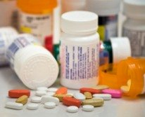 bottles of prescription medicine