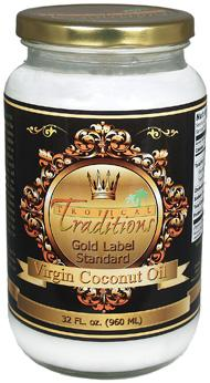 Organic virgin Coconut Oil from Tropical Traditions